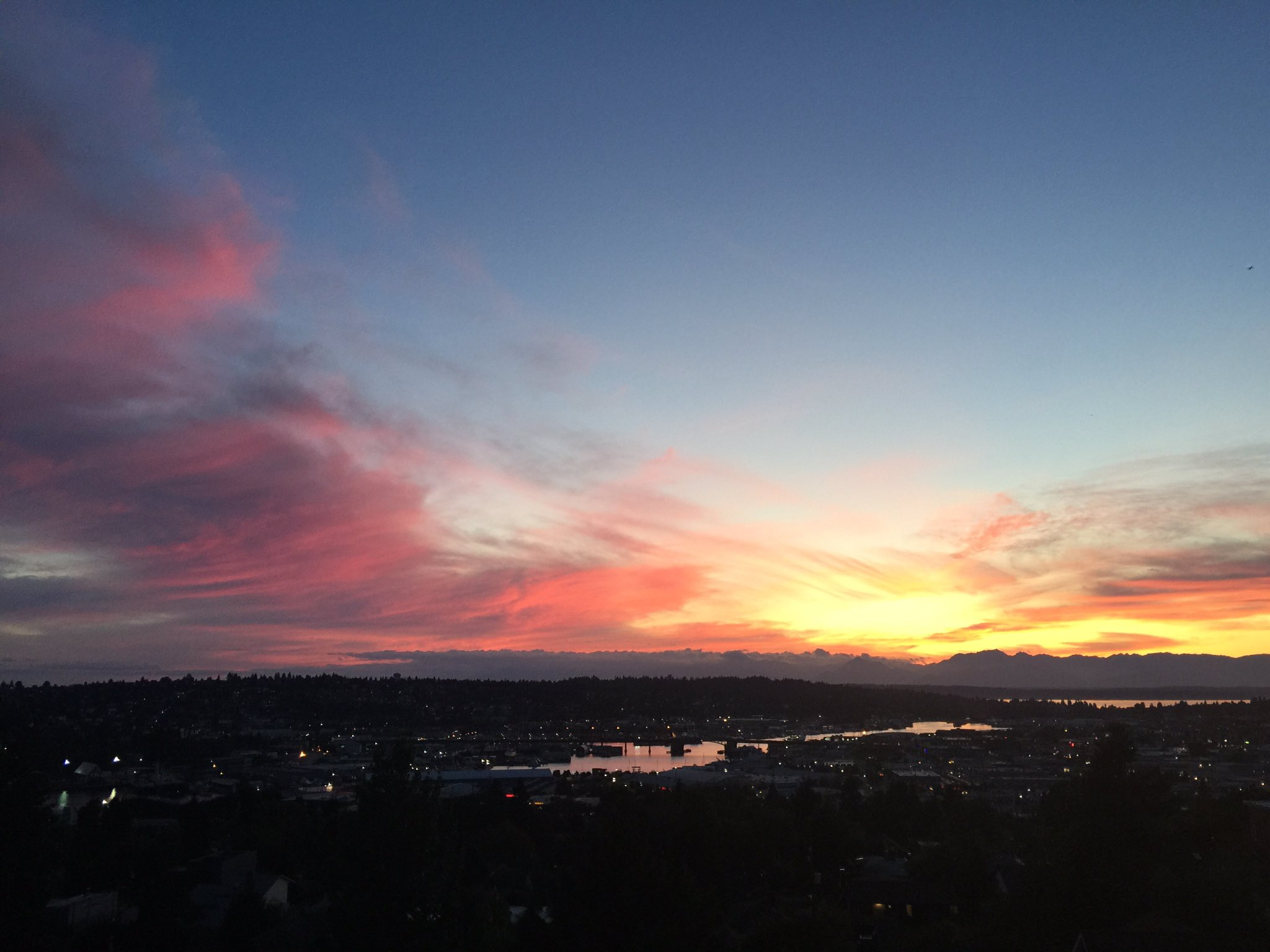 Seattle sunset (Photo: Cody Pettersen/Twitter)