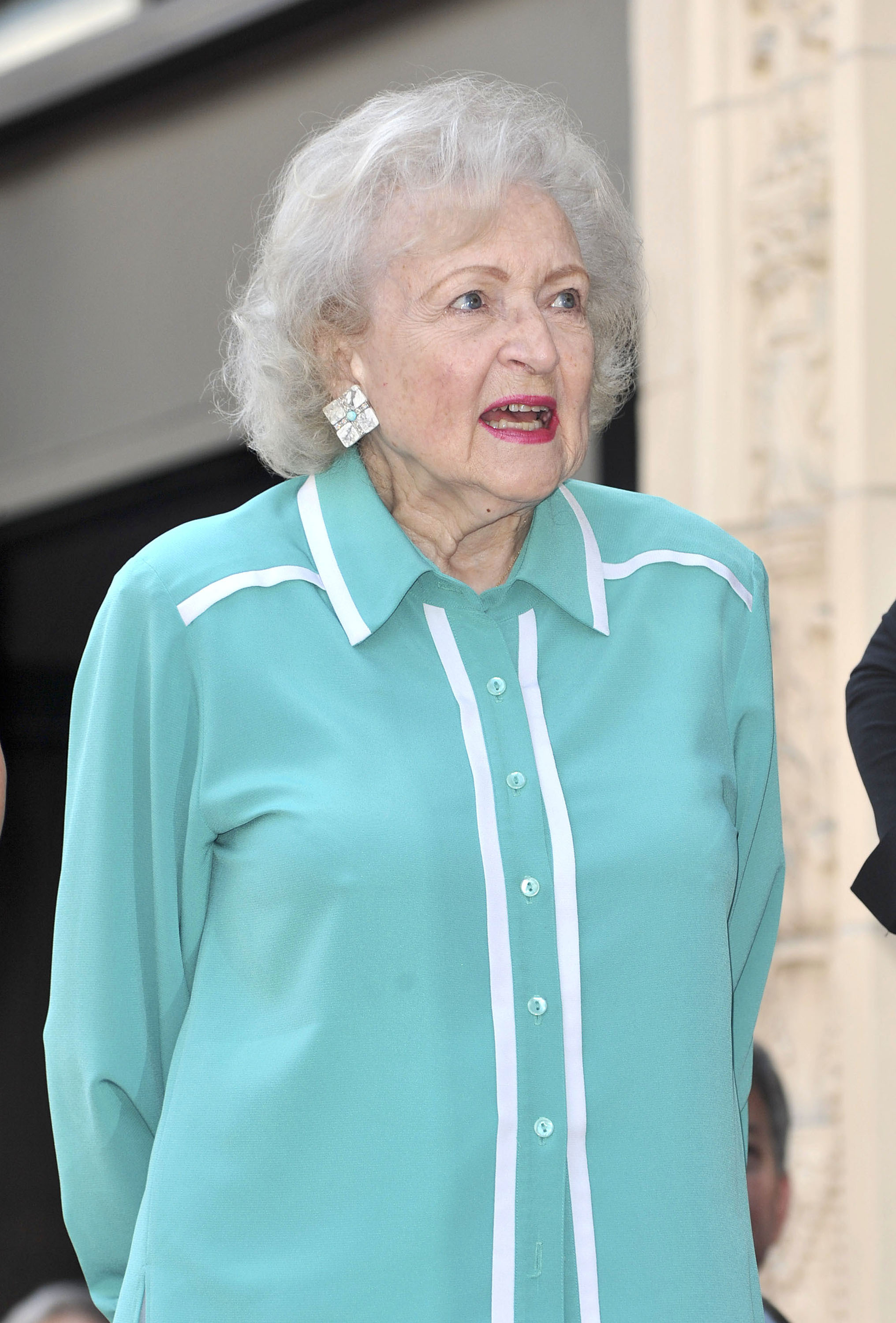 Betty White,                  Valerie Bertinelli is honored with the 2,476th star on the Hollywood Walk of Fame                  Hollywood, California - 22.08.12                                    Featuring: Betty White,                  Where: CA, United States                  When: 22 Aug 2012                  Credit: WENN