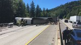 ODOT: Semi-truck crash on I-5 backs up traffic more than four miles