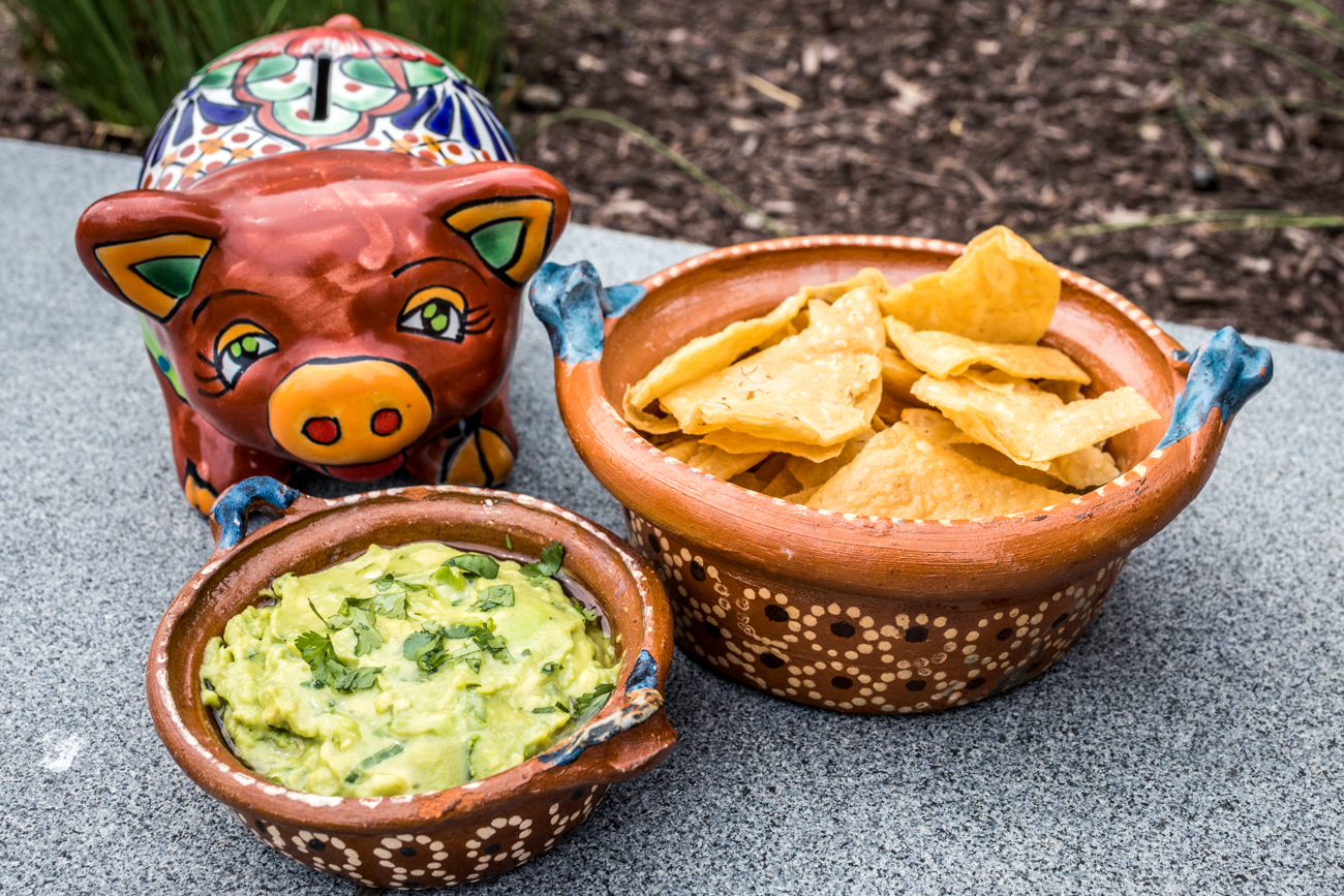 House guacamole with tortilla chips{ }/ Image: Catherine Viox // Published: 5.22.20