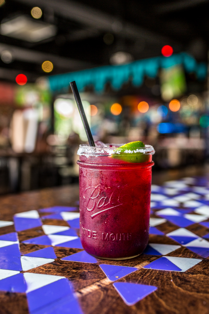Blackberry Margarita: reposado tequila, triple sec, house mix, lime, and fresh blackberry juice / Image: Catherine Viox // Published: 6.9.19