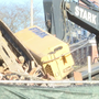 Crane tips over during sorority house demolition