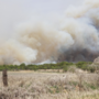 Firefighters battling 1,000 acre grass fire in Jones County
