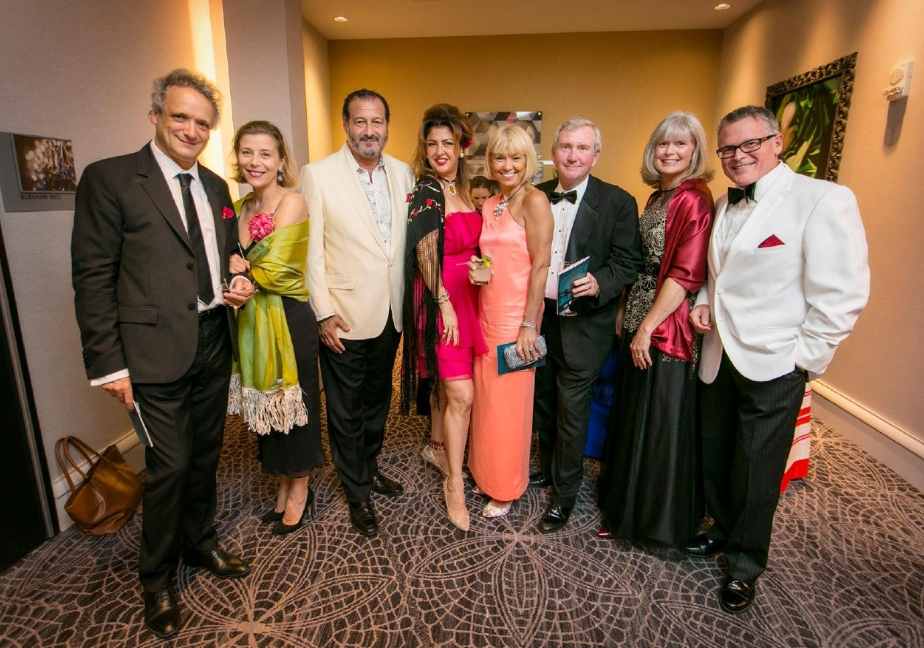 "Peeps: Louis & Aimee Langree, Ashraf & Hengameh Nassef, Martine & Jack Ryan, Thea Tjepkema and John Morris Russell / Event: CSO's ""Hot Havana Nights' (9.9.16) / Image: Mike Bresnen Photography"