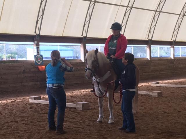 Campers at the{&amp;nbsp;}Fowler Center for Outdoor Learning learn how to lead the horse with commands and movements. (Photo: Courtney Wheaton.){&amp;nbsp;}<p></p>