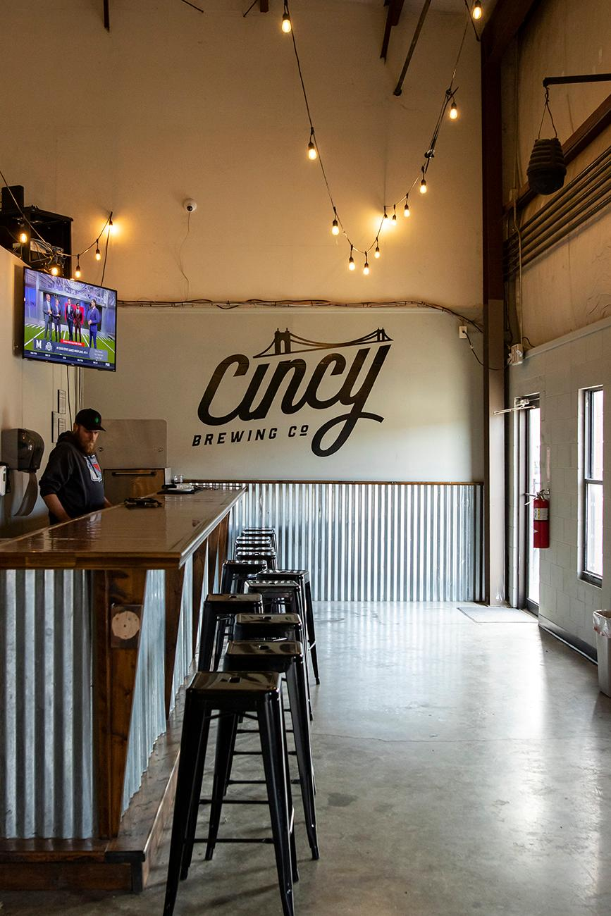 Cincy Brewing Co opened its doors in August 2019 in the former Rivertown Brewing Company in Lockland. The new brewery offers three different beers:  Mad Anthony Red IPA, Lincoln Heights IPA, and The Pike Belgian Light. They also serve light snacks and receive visits from food trucks regularly to round out your night. ADDRESS: 607 Shepherd Drive, Unit 5, Cincinnati, OH 45215 / Image: Allison McAdams // Published: 11.15.19