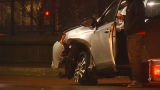 Woman injured in Providence crash