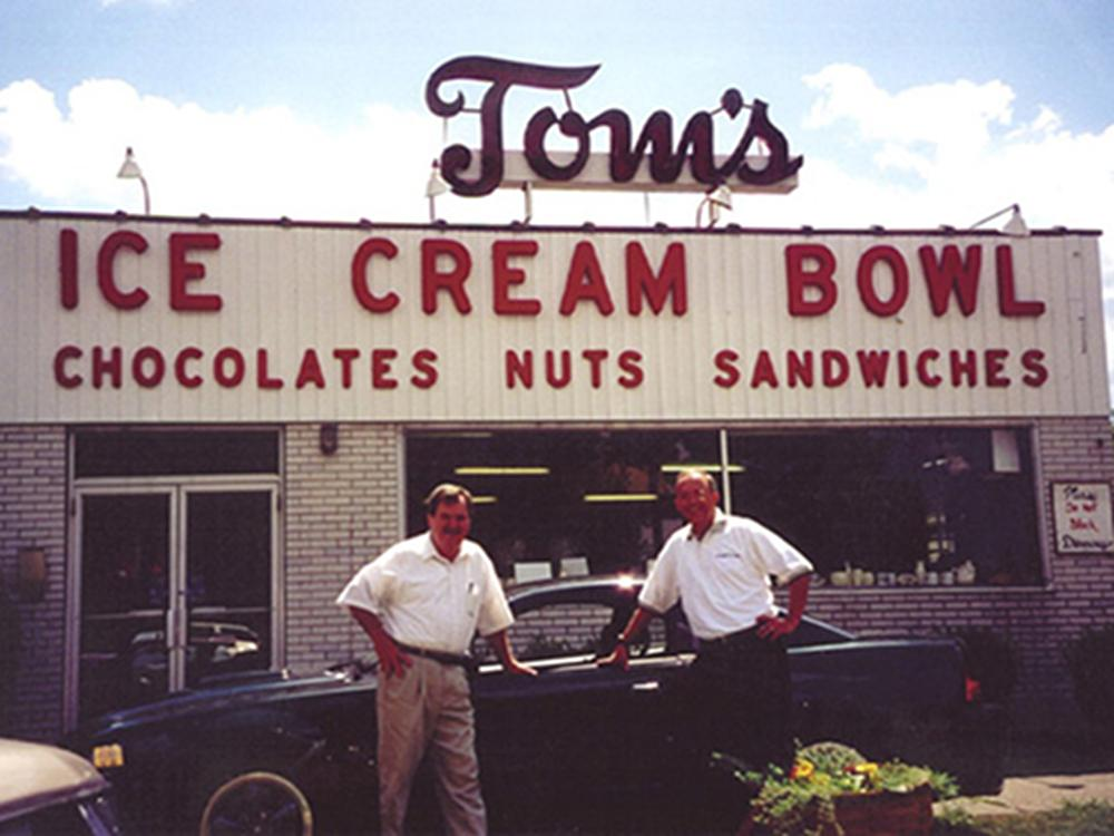 Tom's Ice Cream Bowl in Zanesville is one of 15 stops along the brand new Ohio Ice Cream Trail. / Image courtesy of Tom's Ice Cream Bowl // Published: 8.22.18
