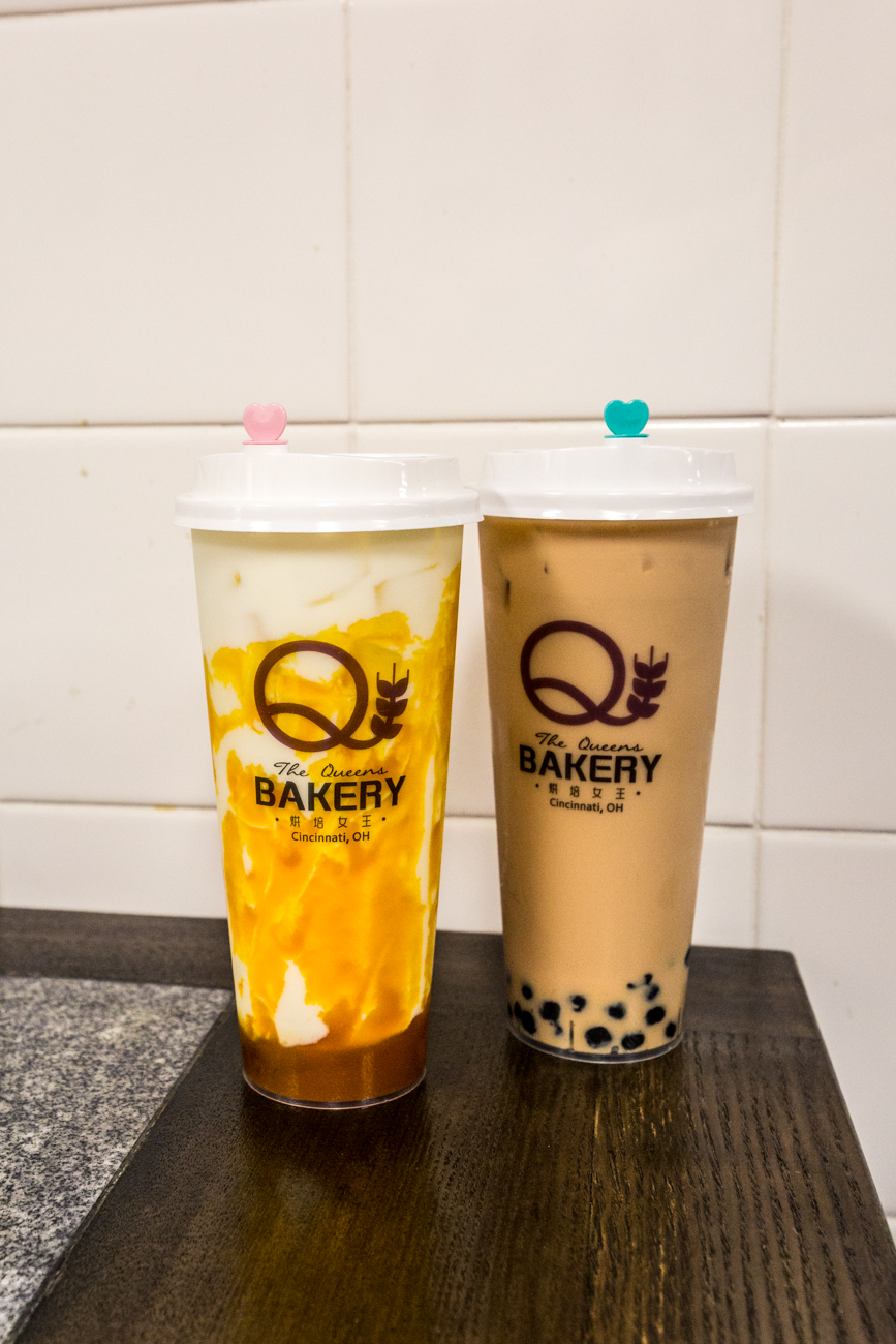 Mango milk and The Queens Bakery original Bubble Tea / Image: Catherine Viox{ }// Published: 8.26.19