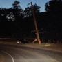 Car Crashes Into Pole; Power Outage Reported