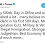 President Trump claims progress after 500 days