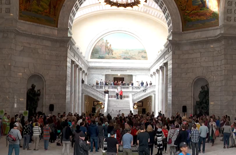 Women rally at Utah's Capitol for 'International Women's day' (Photo: KUTV)