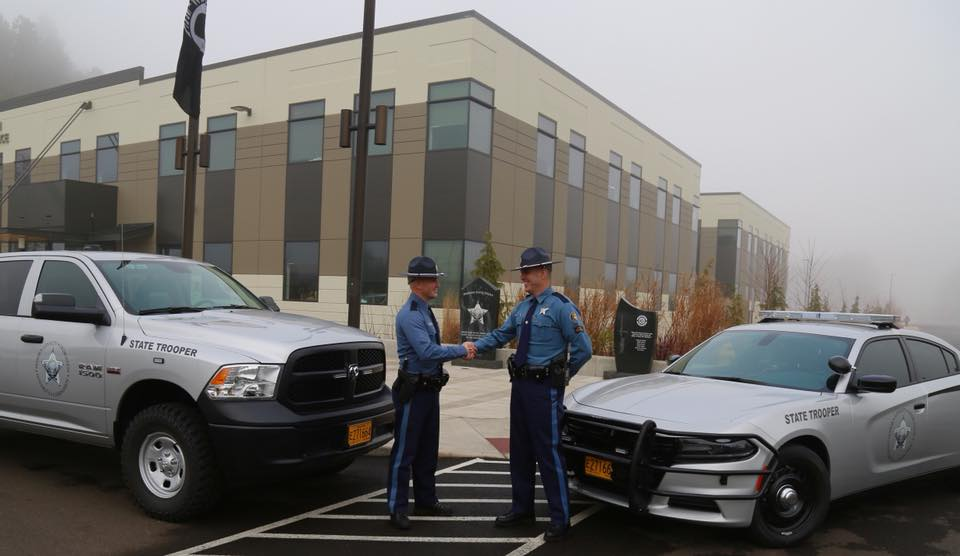 Oregon State Police revealed their re-designed patrol vehicles on Dec. 22, 2017. Photo courtesy Oregon State Police