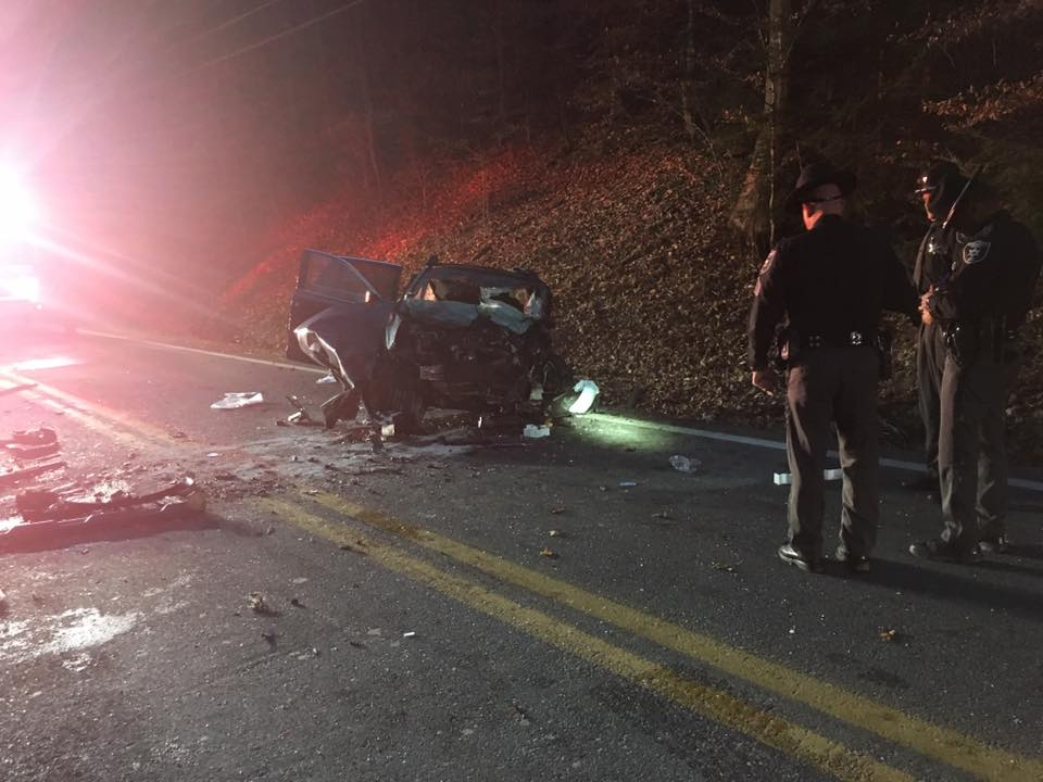 Two vehicles collided Tuesday morning on Greenbrier Street about 1.5 miles past Capital High School. (WCHS/WVAH)