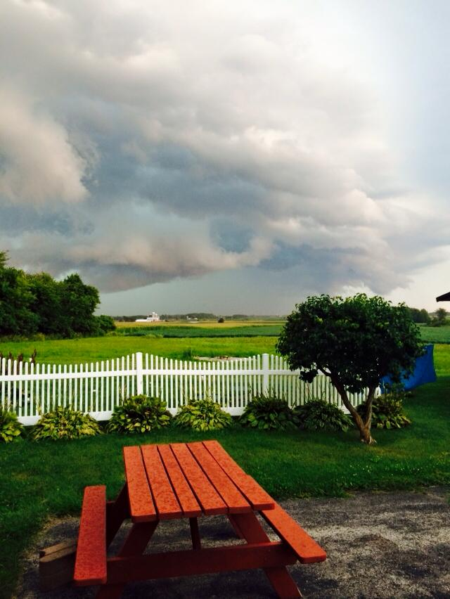 "Aug. 14: ""Clouds outside Pulaski"" (Submitted by Tarah Schuster)"