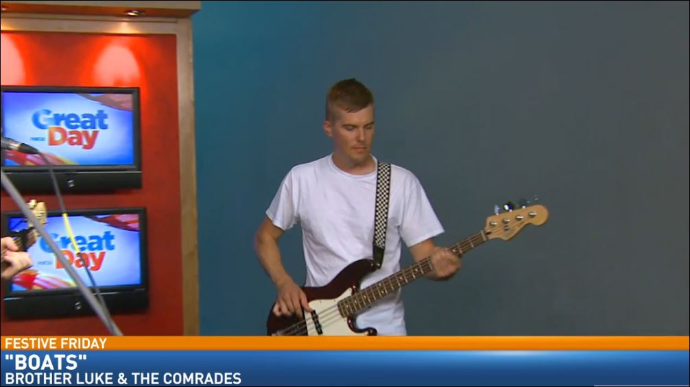 The local Indie Rock band, Brother Luke and the Comrades, rocked Great Day's Studio B for Festive Friday