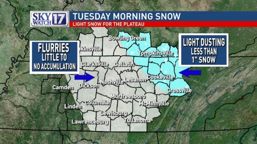 Winter weather advisory issued for Cumberland Plateau, morning snow ...