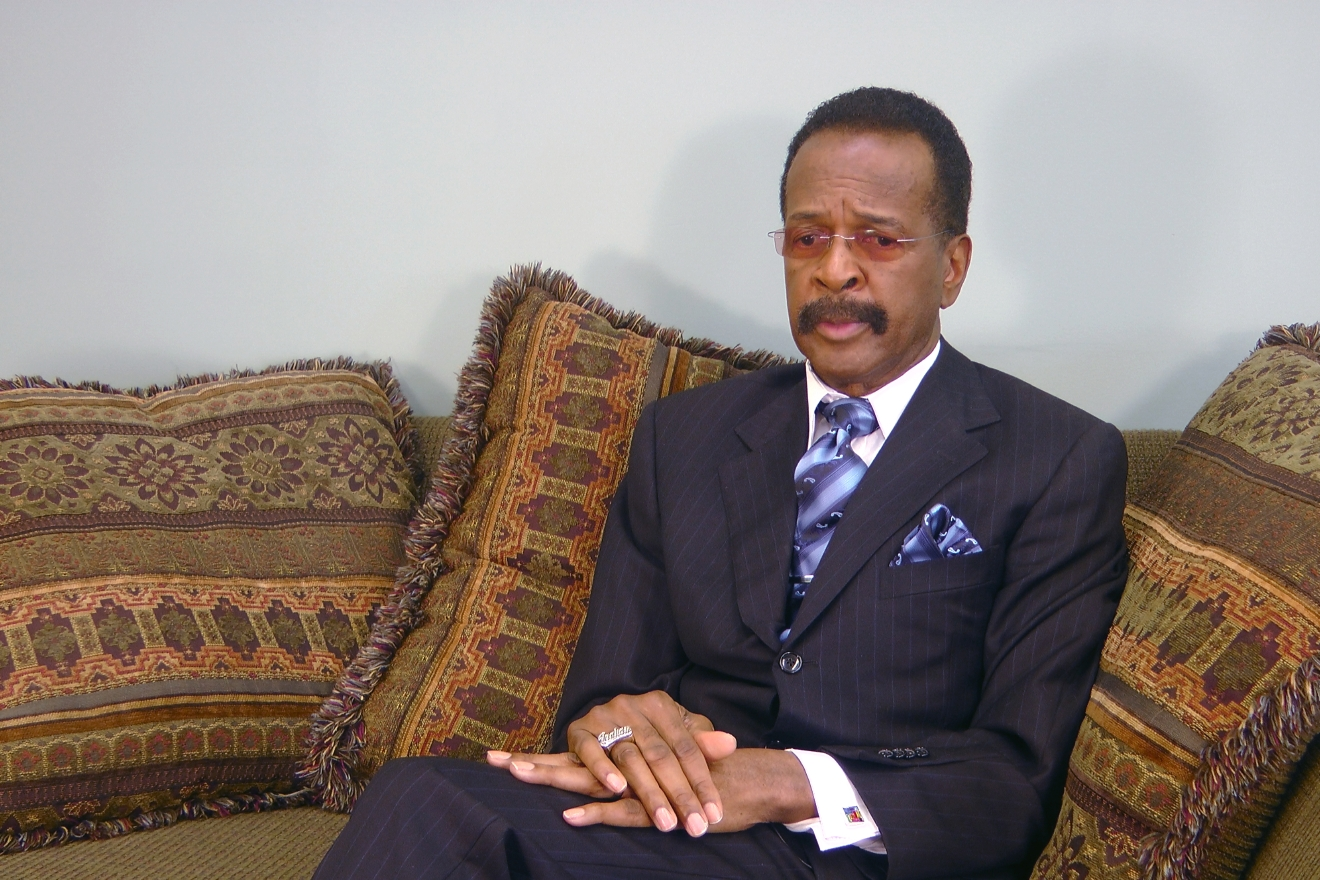 This image made from a video, former Prince bassist Larry Graham talks about Prince in an Associated Press interview on Monday, May 2, 2016. Graham, a famous bassist and longtime friend of pop megastar Prince says the artist found Â?real happinessÂ? in his faith and could stay up all night talking about the Bible. Graham tells The Associated Press that Prince became a JehovahÂ?s Witness later in life and that it changed the starÂ?s music and lifestyle. (AP Photo/Jeff Baenen)