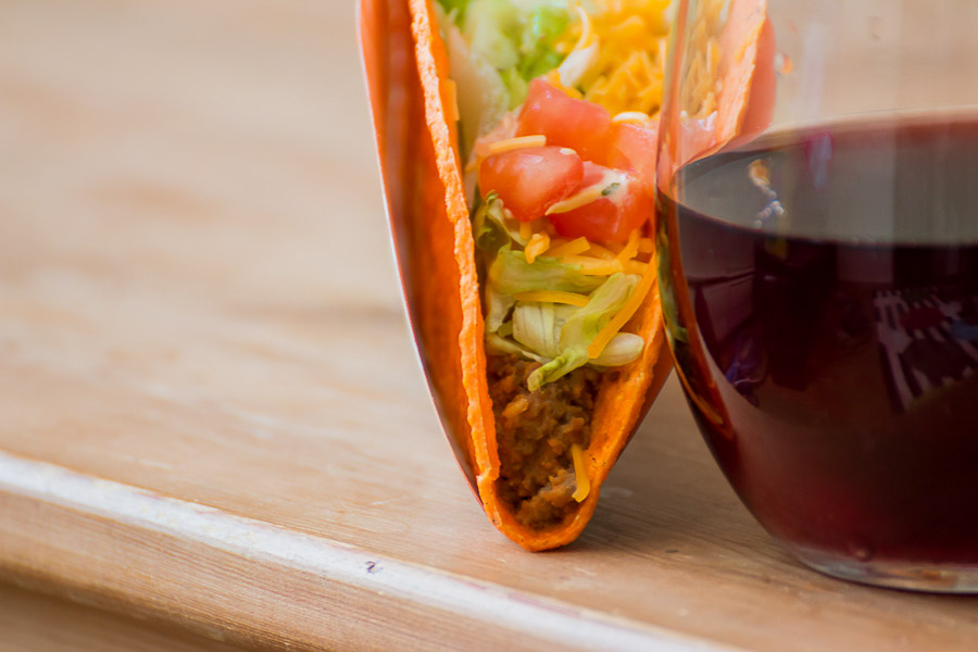 "And lo and behold he discovers that ""the heat from this quesadilla is balanced by the plum, cherry and oak notes in the wine, resulting in a mellowed out spice full of flavor."" (Image: Tarun Sinha)"