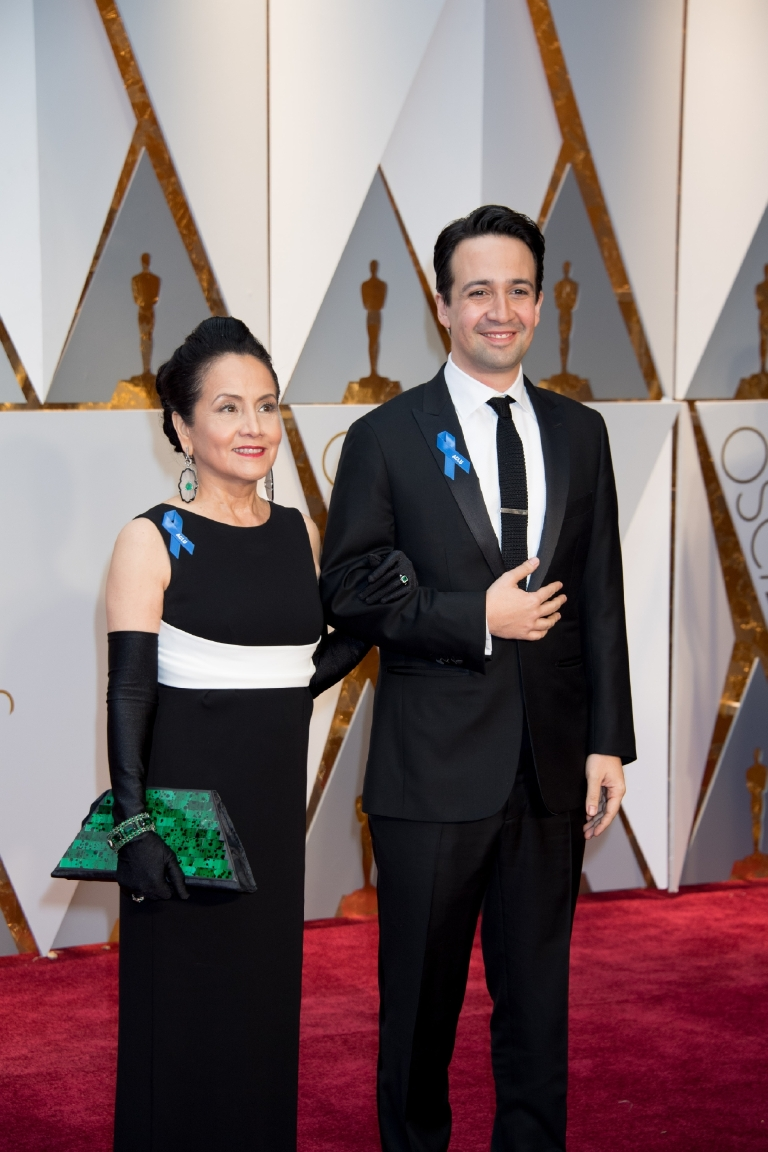 Lin -Manuel Miranda, Oscar® nominee, and Luz Towns-Miranda arrives on the red carpet of The 89th Oscars® at the Dolby® Theatre in Hollywood, CA on Sunday, February 26, 2017. (Michael Yada / ©A.M.P.A.S.)