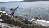 ODOT closes one lane of I-84 to remove partially submerged semi-truck from Columbia River