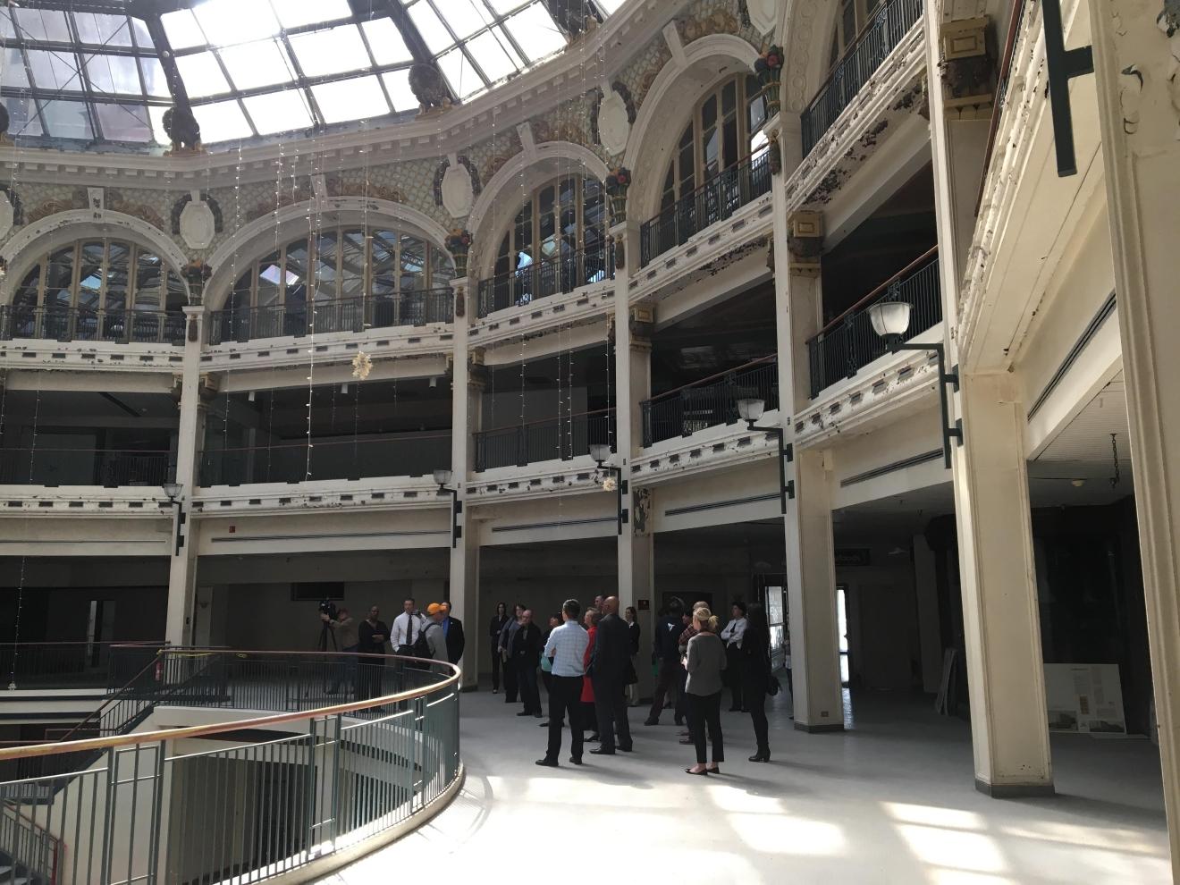 ohio legislators get an inside look at dayton u0027s arcade building wrgt