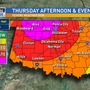 Tornado-warned storms move through Oklahoma