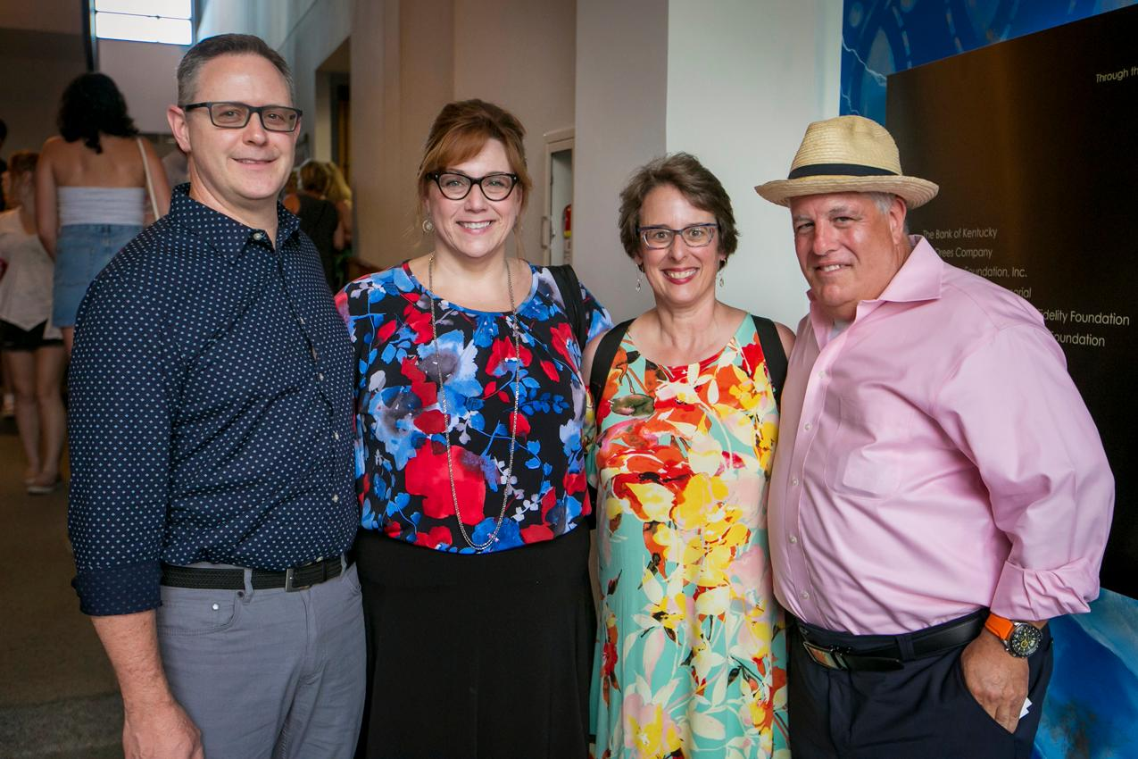 Matt and Charlene Hoyle with Sara and Dick Behrman{ }/ Image: Mike Bresnen Photography // Published: 6.17.18