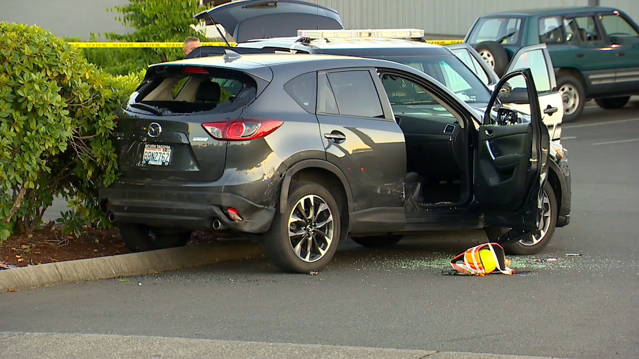 The chase ended in this parking lot, where Ricky Gardin-Gonzalez shot himself in the neck. (KOMO file photo)