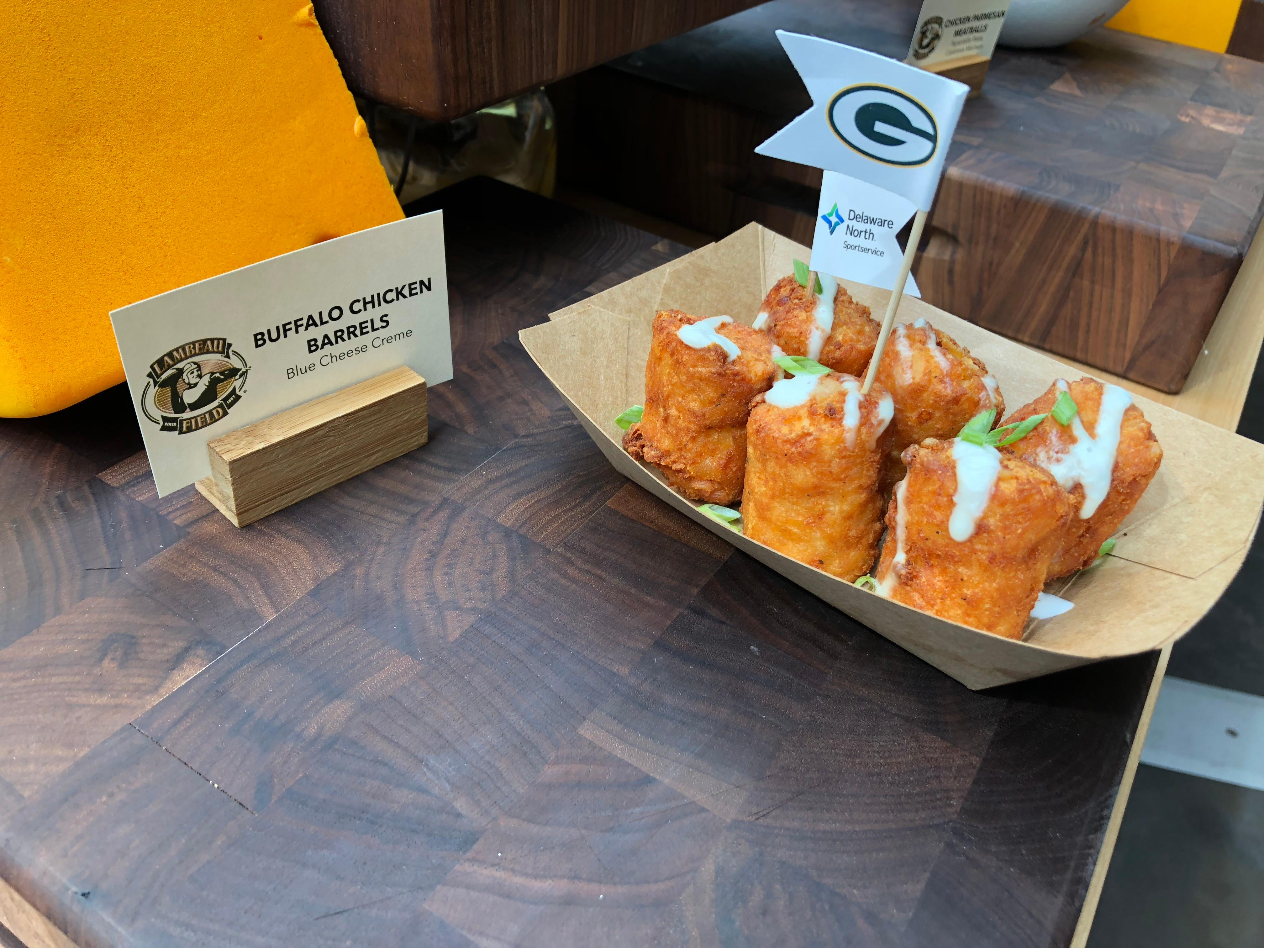 Buffalo Chicken Barrels are part of the Packers game day menu, September 10, 2019 (WLUK/Eric Peterson)