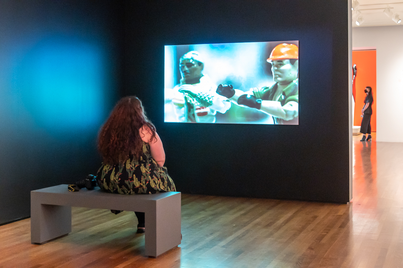 Videos and voice-interactive displays are part of the exhibit. / Image: Phil Armstrong, Cincinnati Refined // Published: 9.4.20