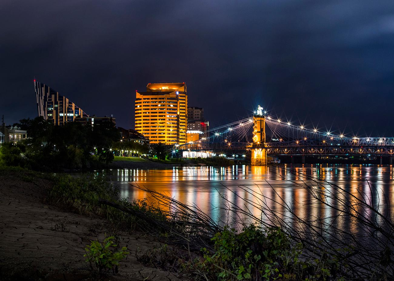 Closeup detail of a panoramic photo of Cincinnati looking west from Kentucky by Chris Ashwell from 2018. View the whole image by going to the Public Library downtown and seeing the Panorama of Progress exhibit. The exhibit runs until October 31. ADDRESS: 800 Vine Street (45202) / Image courtesy of the Public Library of Cincinnati // Published: 10.4.18