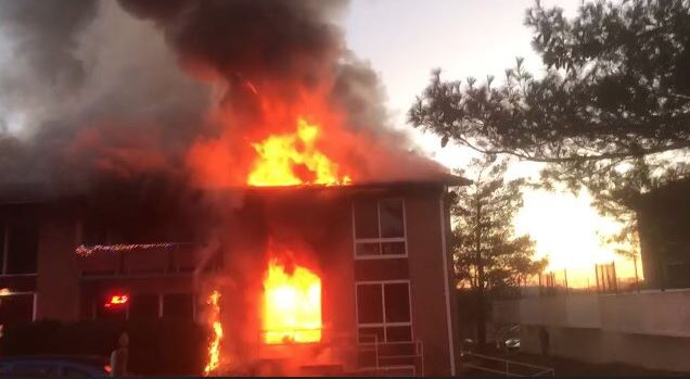 The scene of a major apartment fire in Prince George's County. (Photo, Prince George's County Fire Department){&amp;nbsp;}<p></p>