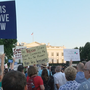 Large group gathers outside of White House to protest Trump for third straight night