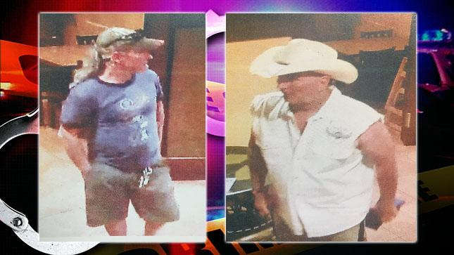 Two men wanted for questioning in a dine-and-dash at Giuseppe's Restaurant. Image Courtesy: Fellsmere Police.