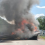 Fiery wreck involving multiple tractor trailers on I-30