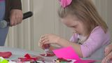 Crafty kids make handmade Valentines at Davison Farmers Market