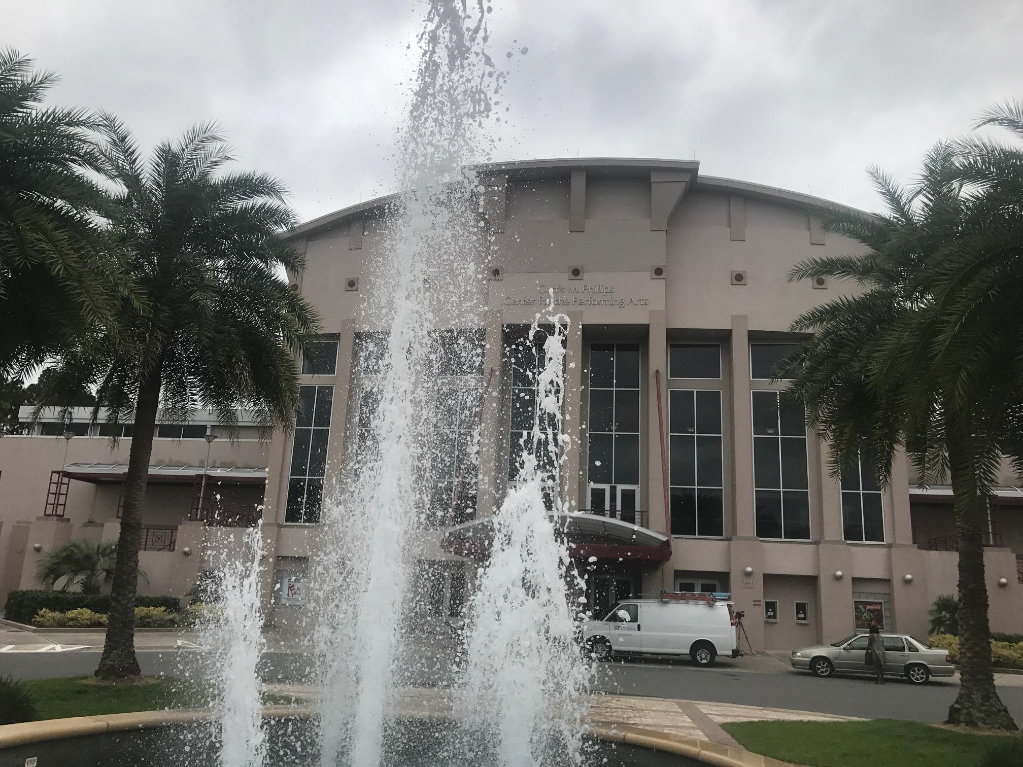 The{ } Phillips Center Tuesday. (WGFL)