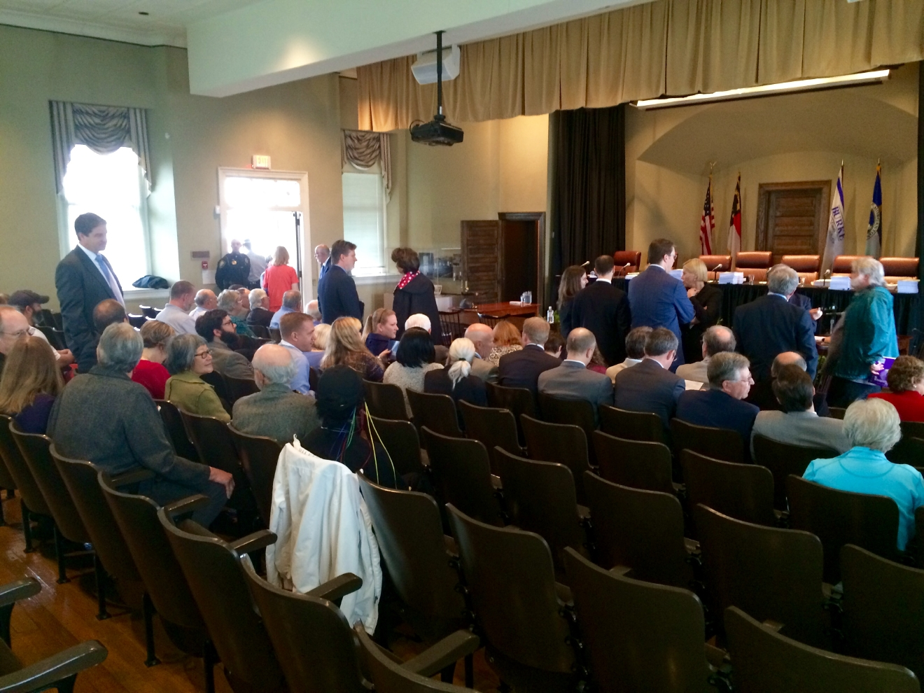 The courtroom fills up. NC Supreme Court tackles the Asheville water system debate (Photo credit: WLOS staff)