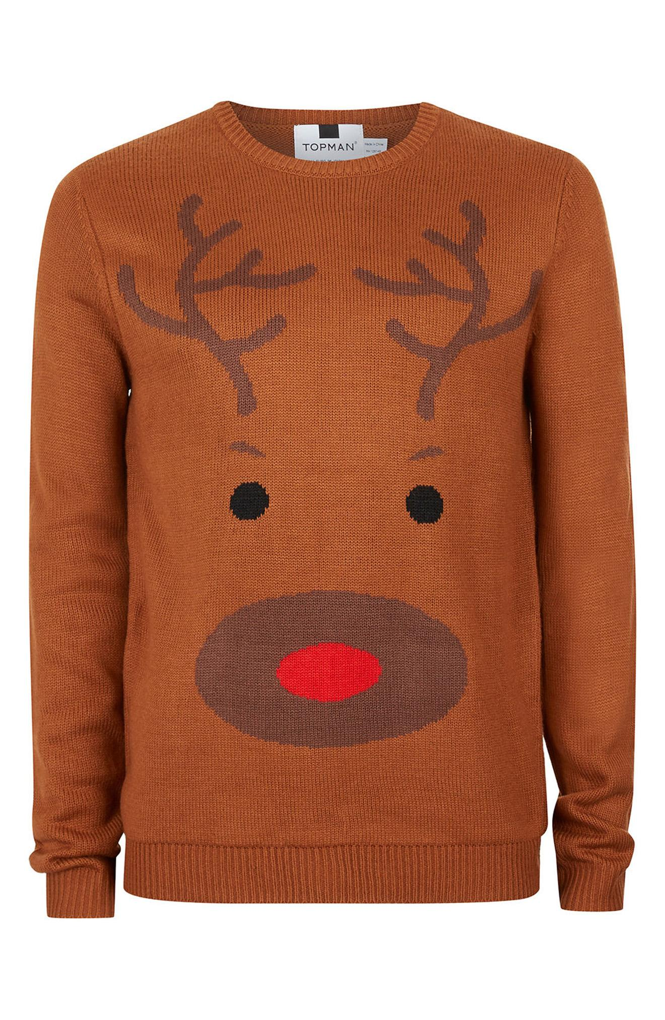 Topman Reindeer Face Sweatshirt, $55(Photo: Nordstrom)