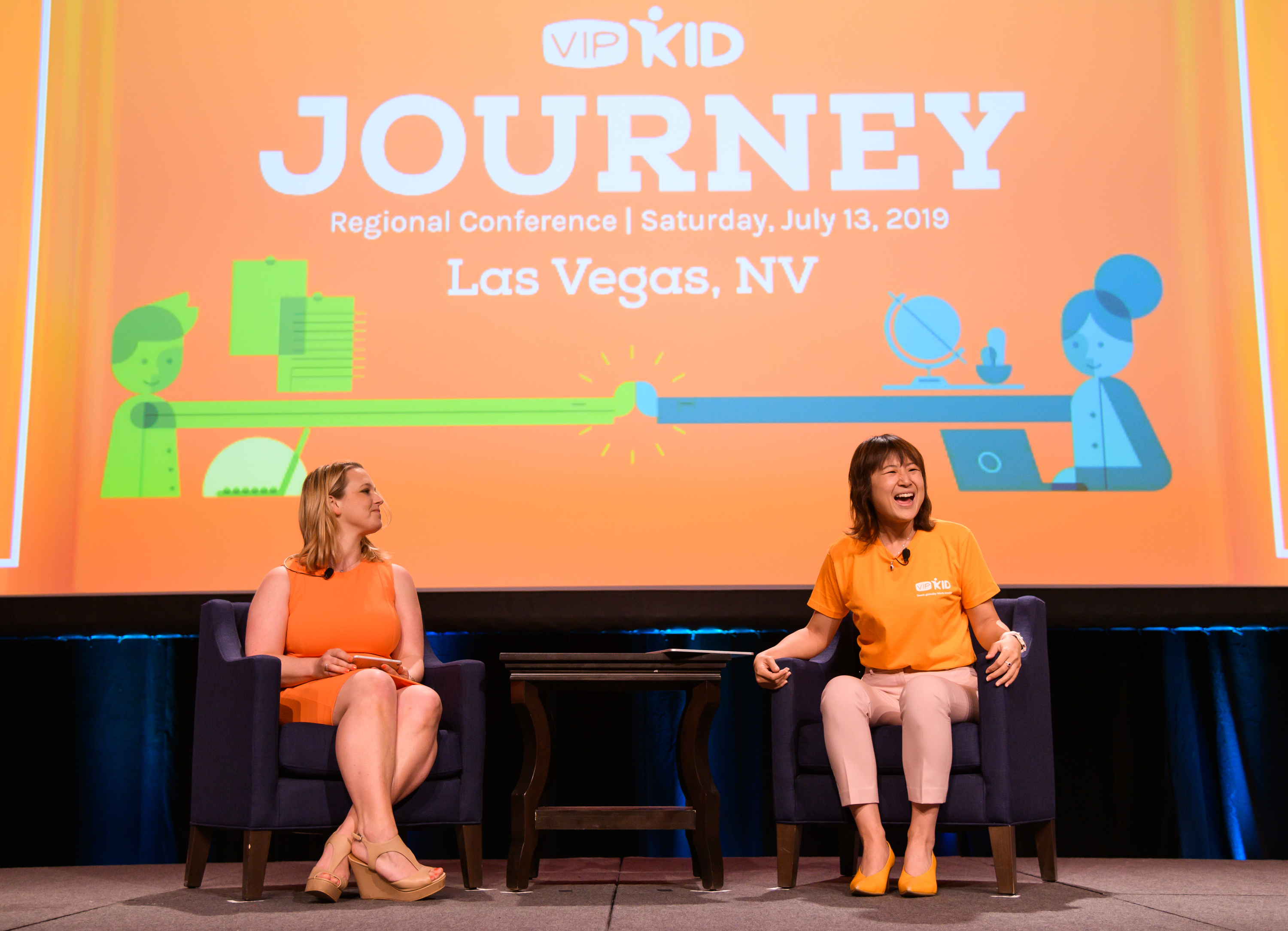 The regional teacher conference was an all-day gathering of 500 online English teachers. (Courtesy VIPKid/Grant Miller Photography)
