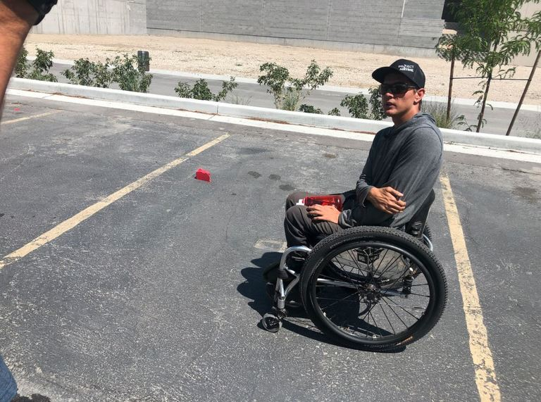 A quadriplegic paraglider touring the country who is helping kids with disabilities had his trailer stolen that he calls &quot;home&quot;. (Photo: KUTV){&amp;nbsp;}<p></p>
