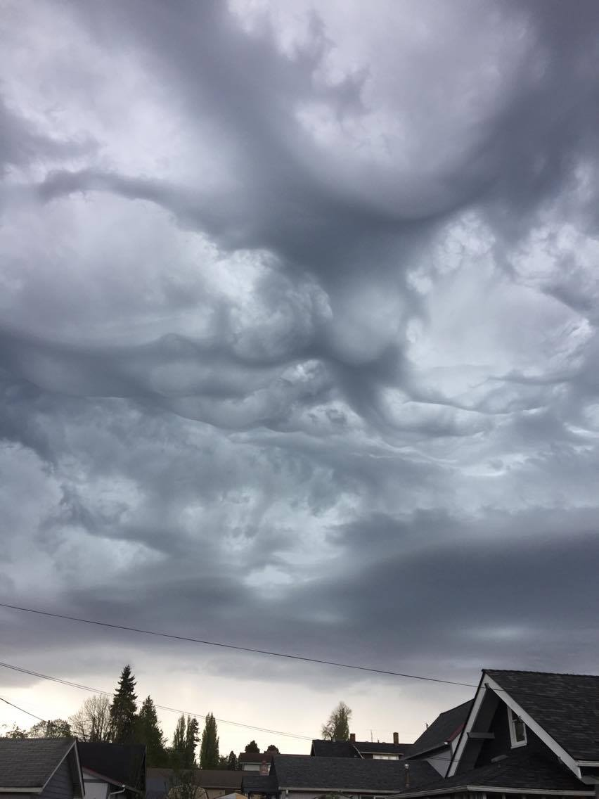 Storms roll into north Tacoma. (Photo courtesy of Karen Schade)