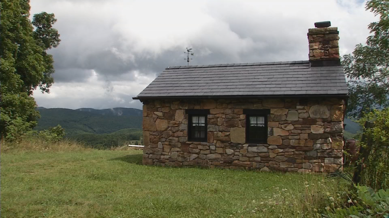 The Welsh cottage sits on a high ridge with an amazing view! (WCHS/WVAH)