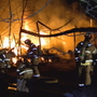 Crews battle massive shop fire in Salem