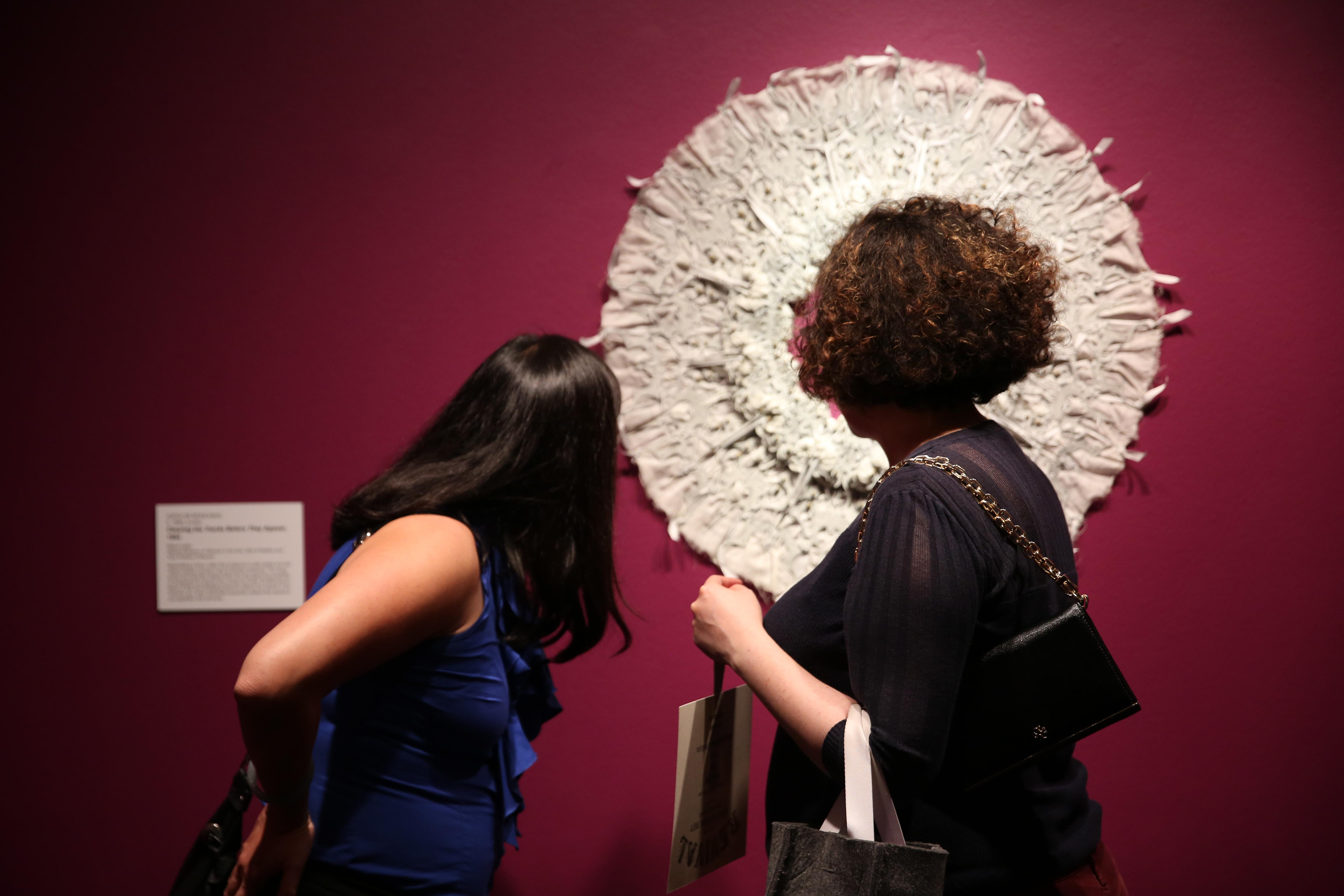 Revival, the newest addition to the National Museum of Women in the Arts, is a compelling and sometimes pleasantly unsettling exhibition.  However, a glittering after-hours party on June 22 was the perfect way to welcome the mixed-media collection, which will be on display until September 10. (Amanda Andrade-Rhoades/DC Refined)