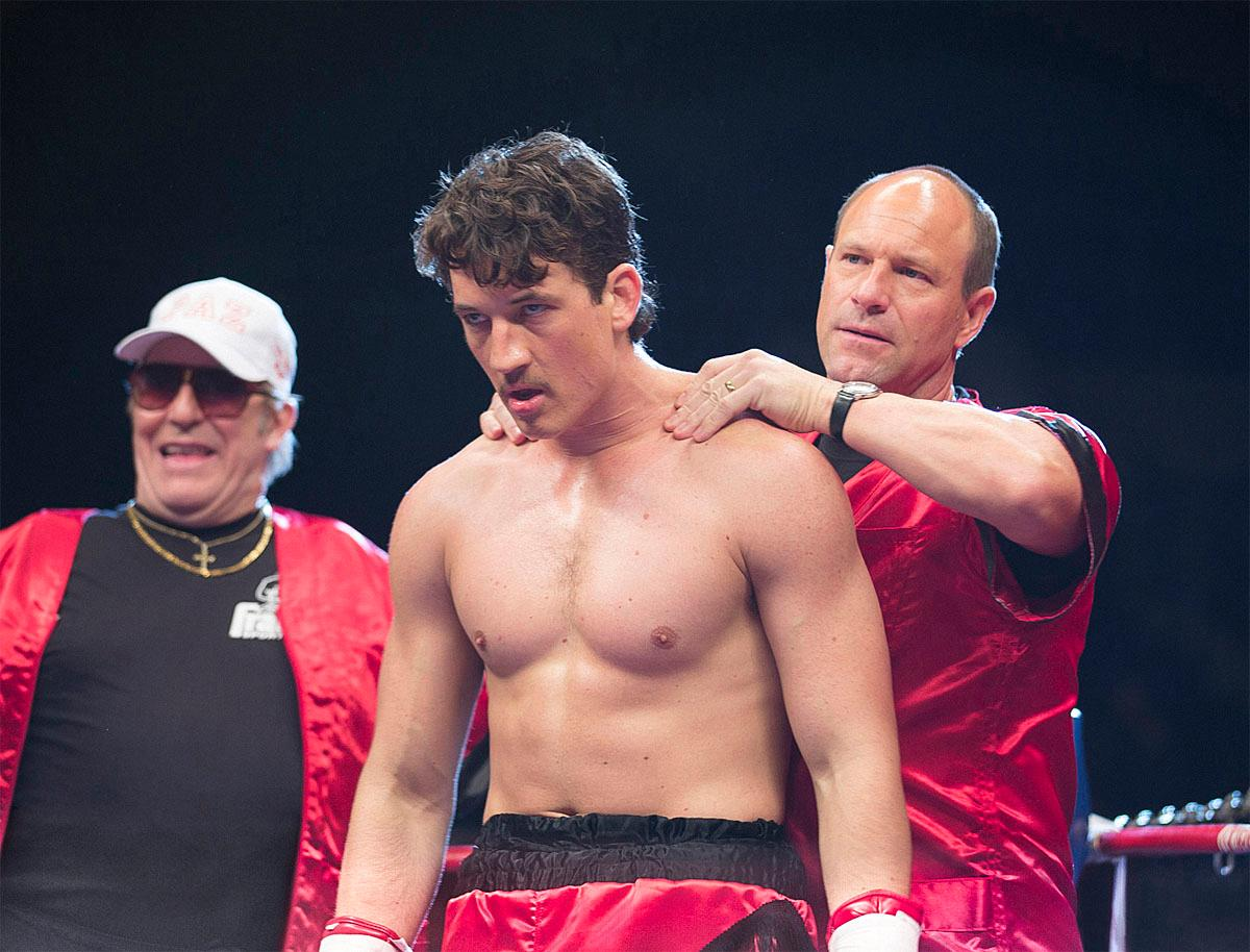 (Left to right) Ciaran Hinds, Miles Teller and Aaron Eckhart in BLEED FOR THIS. Photo credit:  Seacia Pavao	/ Distributor:  Open Road Films