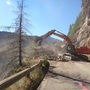 Work continues to remove rockslide blocking forest road since last December