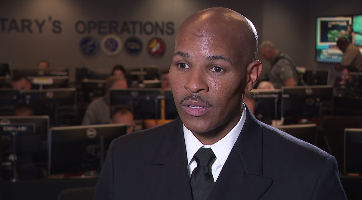 U.S. Surgeon General Jerome Adams discusses public health in Puerto Rico and the U.S. Virgin Islands after Hurricane Maria. Friday, September 29, 2017. (Sinclair Broadcast Group)