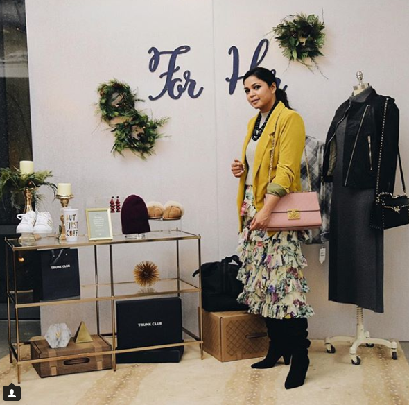 We spotted Saumya at the Trunk Club shopping preview and could not get enough of her ruffly, tiered skirt! (Image: Courtesy IG user @myriadmusings/ www.instagram.com/myriadmusings/)<p></p>
